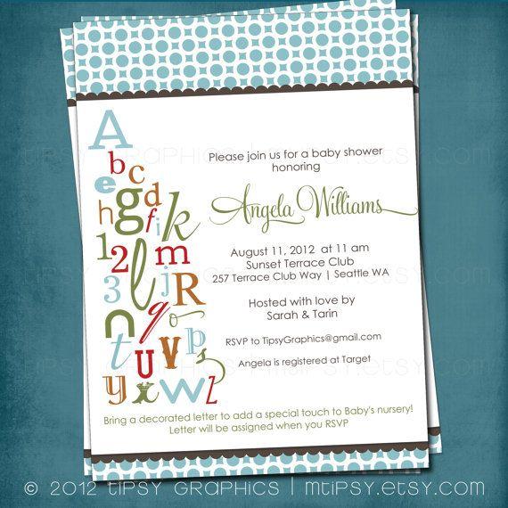10 Best Alphabet Bridal Shower Images On Pinterest Bridal