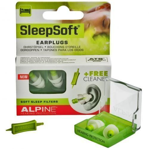 Alpine SleepSoft Reusable Sleeping EarPlugs Comfort Study Snoring Ear Plugs #StopSnoringSigns