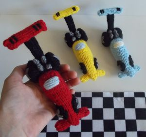 Dragster Race Car Knitting Pattern