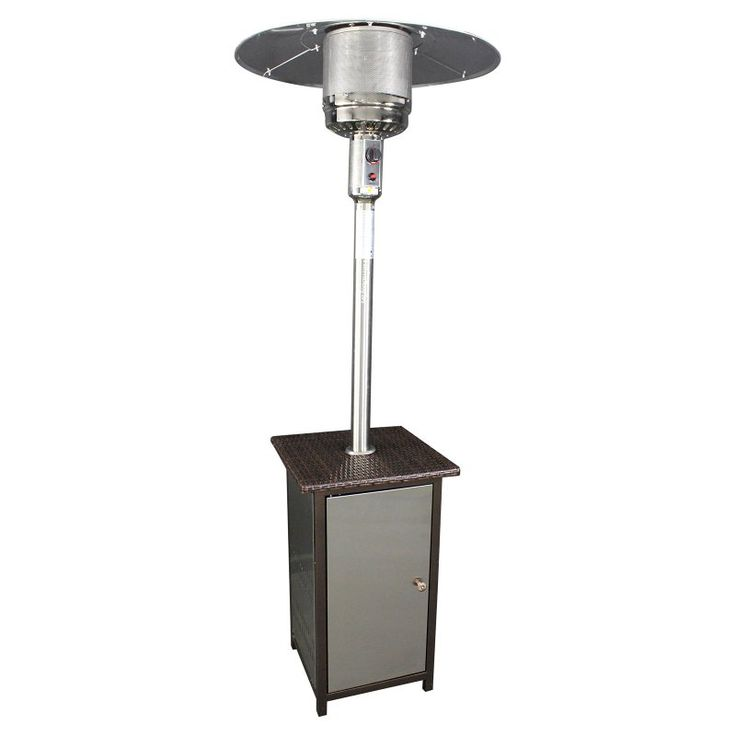 HomComfort SS Liquid Propane Patio Heater With Wicker Stand   Up To 115 Sq.  Can Stay Warm And Cozy Outdoors No Matter The Season With A Little Help  From The ...