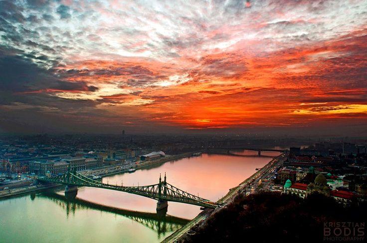 Budapest at dawn.