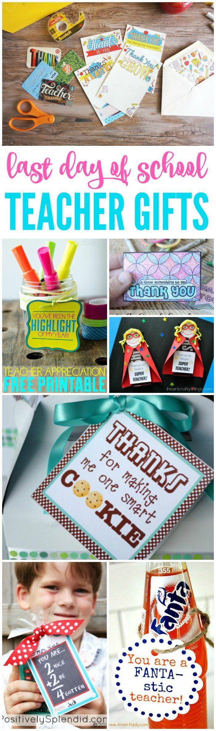 last day of school teacher gift ideas