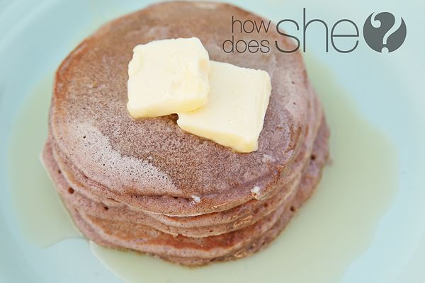 The most delicious Cinnamon Bun Pancakes EVER! One of our favorite breakfast meals...and oh, so easy!