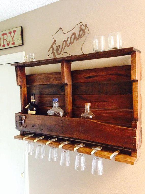 Plataforma de bastidores de vino de madera por TexasRusticReserve