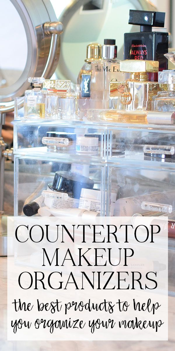 #ad Great countertop organizers for your makeup. I especially love the acrylic ones, the clear plastic makes it easy to find everything!
