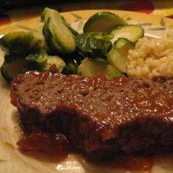 A Sweet Tangy Glaze Covers This Tasty Meatloaf That Will
