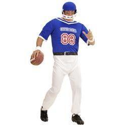Disfraz de jugador de rugby talla grande para hombre