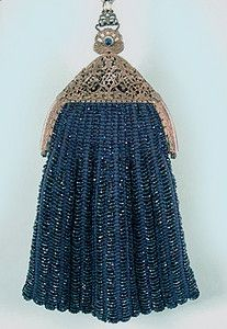 Blue Beaded Bag, 1915-1920s #vintage #evening #bag  #purse  #handbag