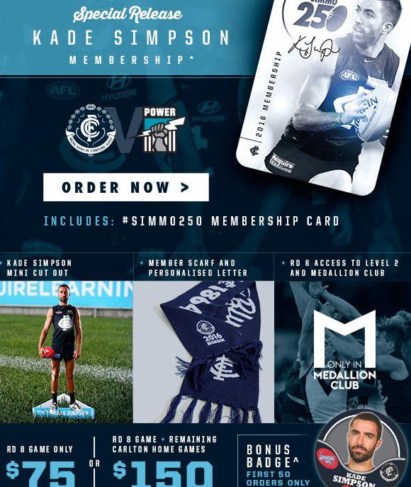Carlton AFL ticket pack for fans