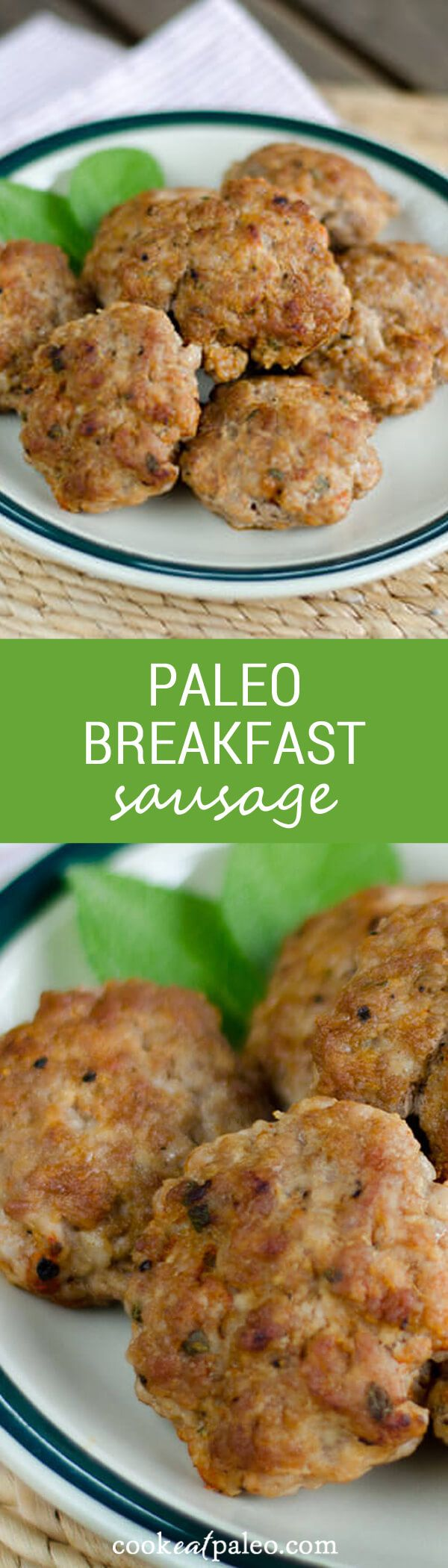Quick and easy paleo breakfast sausage recipe. With just a few ingredients, you can have sausage patties ready to cook or freeze in less than 5 minutes. ~ http://cookeatpaleo.com