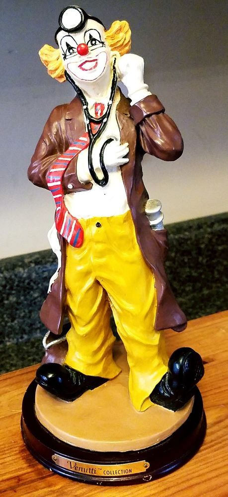 "Vintage LaVie Venutti Clown Figurine Statue Doctor Heart Stethoscope 9.5""  | eBay"