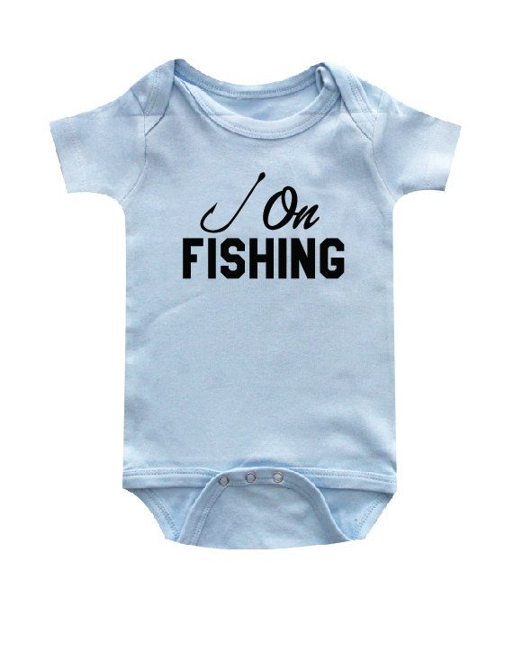 15 best fishing outdoors clothing images on pinterest for Fishing shirt onesie