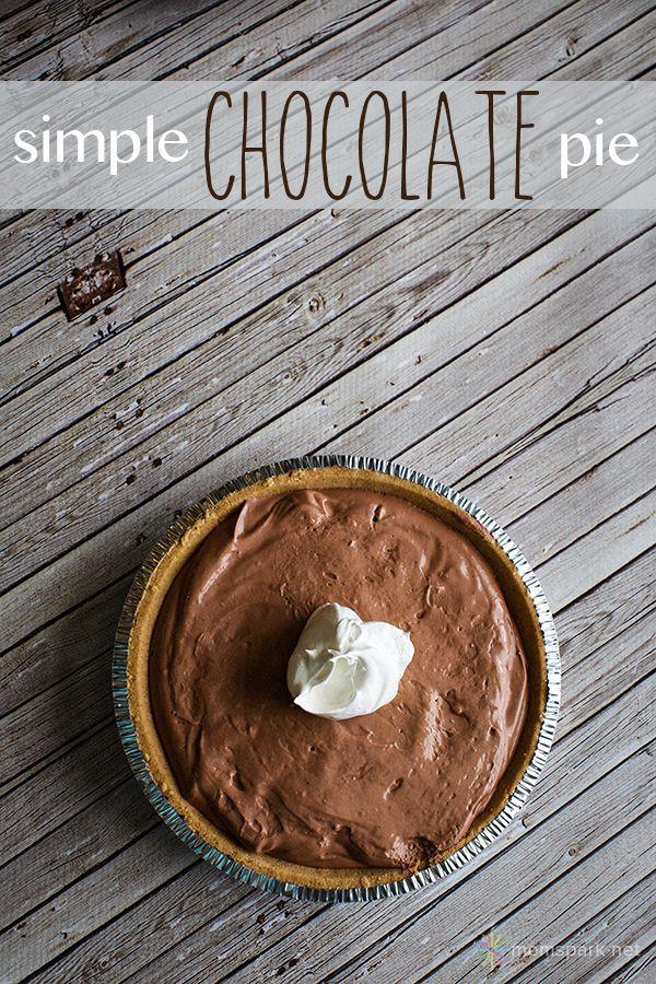 Simple Chocolate Pie Made with Jell-O Pudding   Mom Spark™ - A Blog for Moms - Mom Blogger