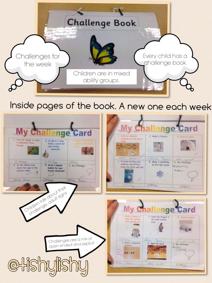 Challenge books and inserts used in my FS2 class