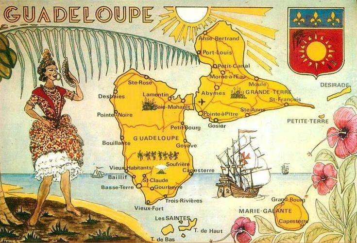 CPM Guadeloupe Carte