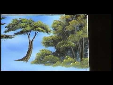 Боб Росс - Учимся рисовать деревья.(с переводом на русский)