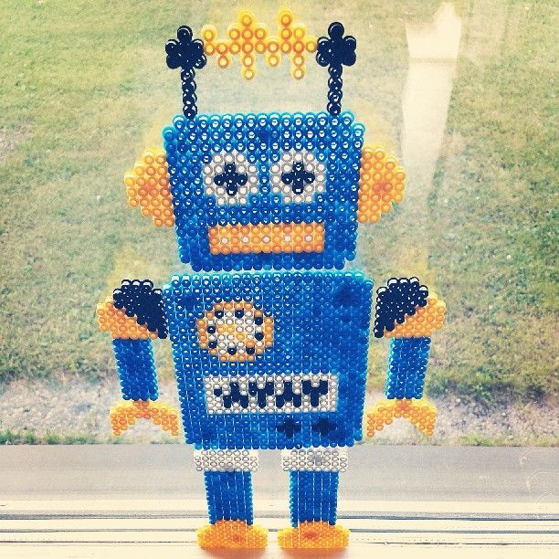 Robot hama perler beads by malinmedco