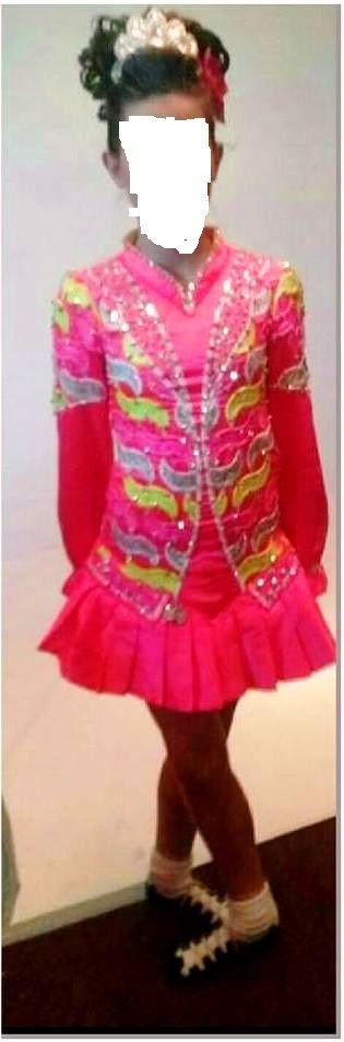 Striking Irish Dance Dress Solo Costume For Sale
