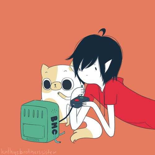 Marshall Lee and Cake