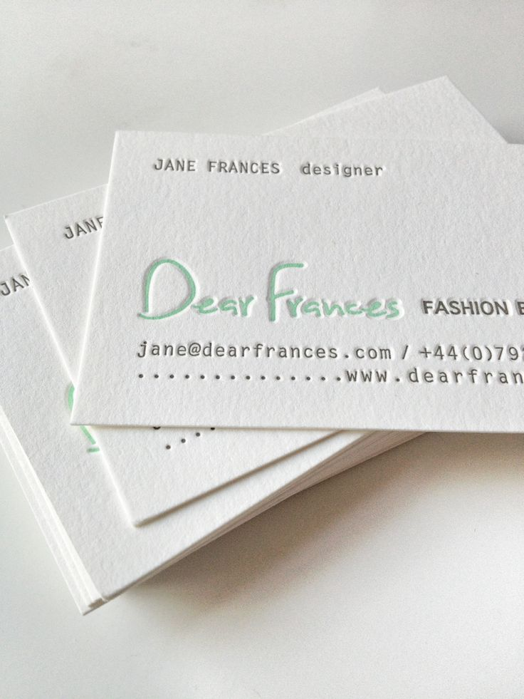 Business cards from The Collectors Room