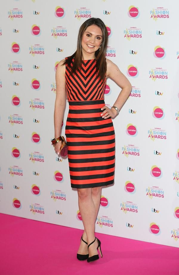 Laura Tobin ITV Weather girl in Karen Millen dress (May 2015)