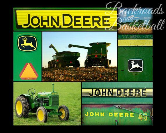 John Deere Collage Fine Art Home Decor Wall Art Photo Print