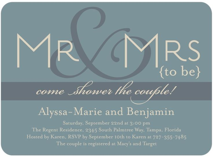 jack and jill shower invitations | Here's a pretty, yet simple couples wedding shower invitation (click ...