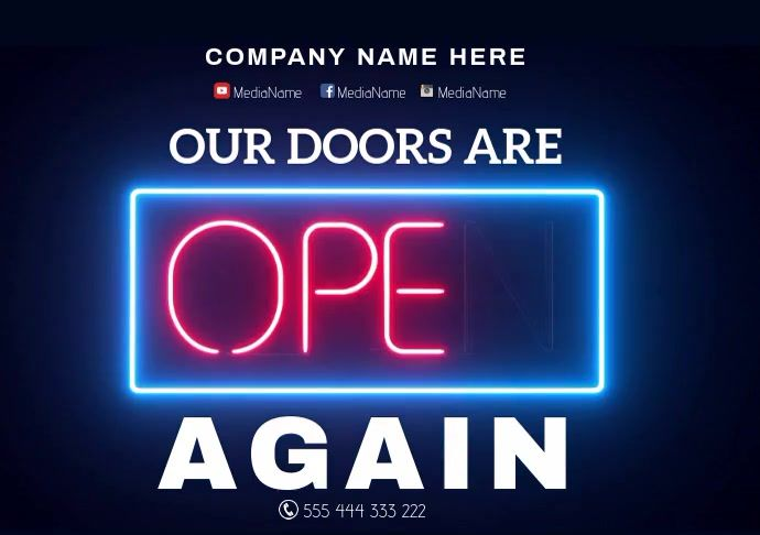 We Are Open Business Gaming Posters Poster Template Templates