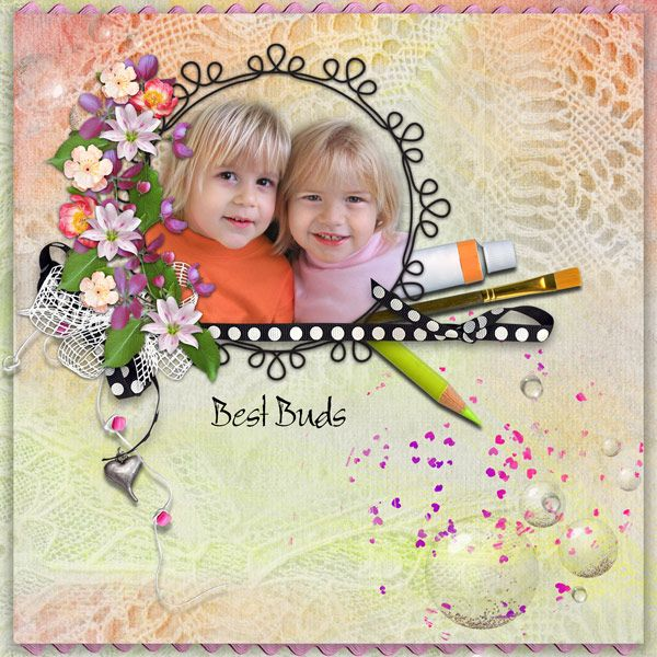 Best Buds by Tbear. Kit used: Summer Days http://scrapbird.com/designers-c-73/d-j-c-73_515/graphic-creations-c-73_515_556/summer-days-by-graphic-creations-p-16598.html