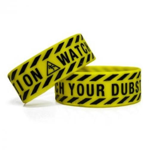Rubber bracelets dubstep and yellow black on pinterest