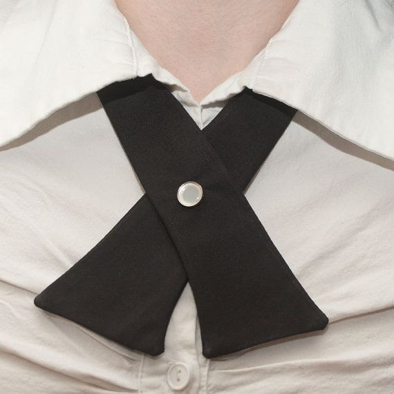 Womens Neck Tie  Black by flappergirl on Etsy, $18.00