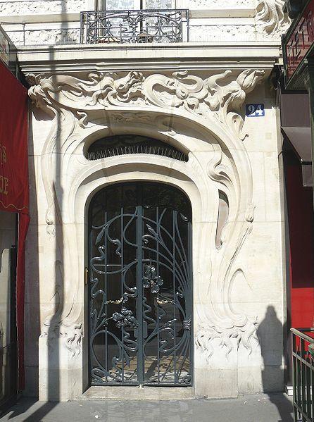 Art nouveau door - the most elegant lines here...