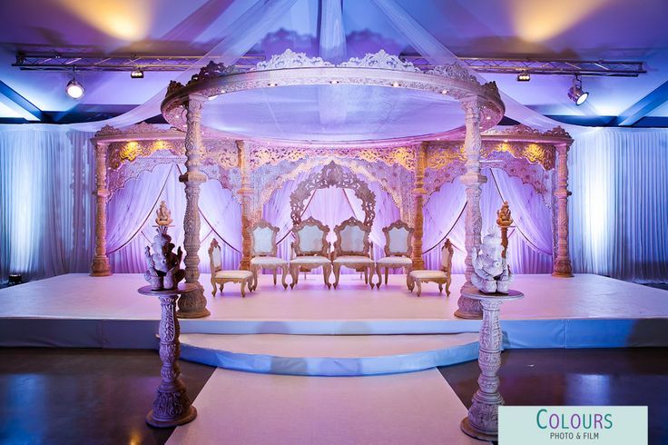 Mandap by Wed In Style at Ladywood Estate, Leicester. www.coloursphotofilm.co.uk