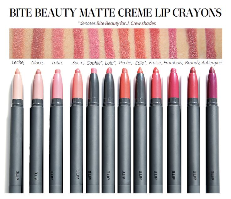 Bite Beauty Matte Creme Lip Crayons
