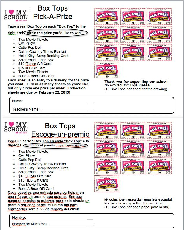 Great Collection Sheet by picking a prize!