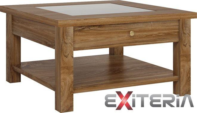 Konferenčný stolík Cintia s výraznou kresbou dreva