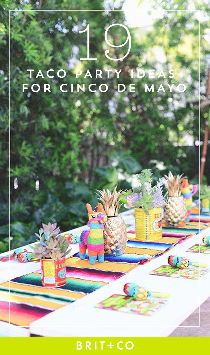 19 taco party essentials for Cinco de Mayo.
