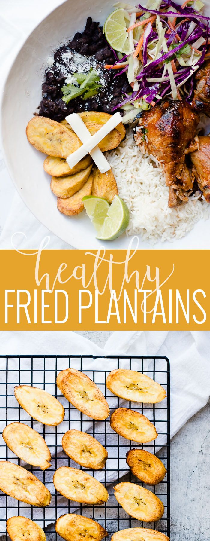 Healthy Fried Plantains | Costa Rican fried plantains | sweet fried plantains | how to fry plantains | Costa Rican inspired recipes || Oh So Delicioso #friedplantains #costaricanrecipe #plantain