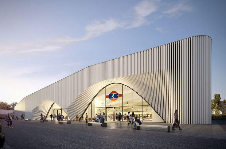 In der münsterländischen Stadt Rheine plant neun grad architektur einen Supermarkt für das Lebensmittel-Einzelhandelsunternehmen k+k Klaas und Kock aus Gronau. Der Neubau soll einen Vorgängerbau aus den 1970er Jahren ersetzen. Ziel der Gestaltung ist es, dem Standort neue Qualitäten zu verleihen: Eine markante Eingangssituation, sowie eine großzügige Raumhöhe schaffen eine hochwertige Aufenthaltsqualität für Kunden und Mitarbeiter.
