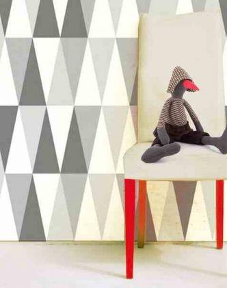 Tapeta szare trójkąty - Sklep Toto Design