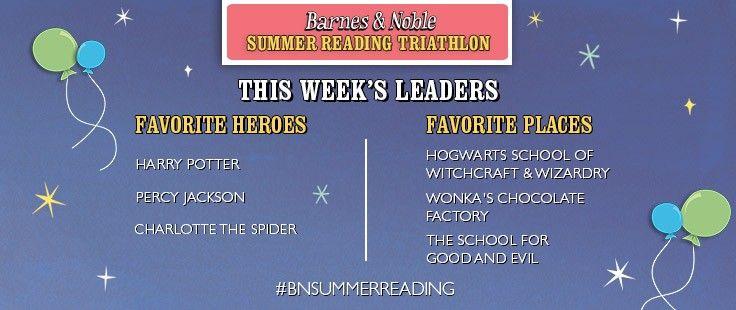 Barnes & Noble Summer Reading Triathlon - This Week's Leaders