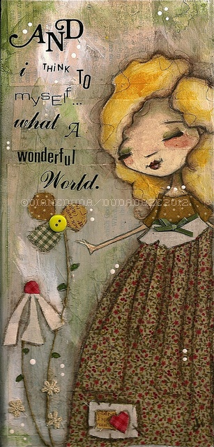 another adorable image by Diane Duda - Wonderful World  ©dianeduda/dudadaze