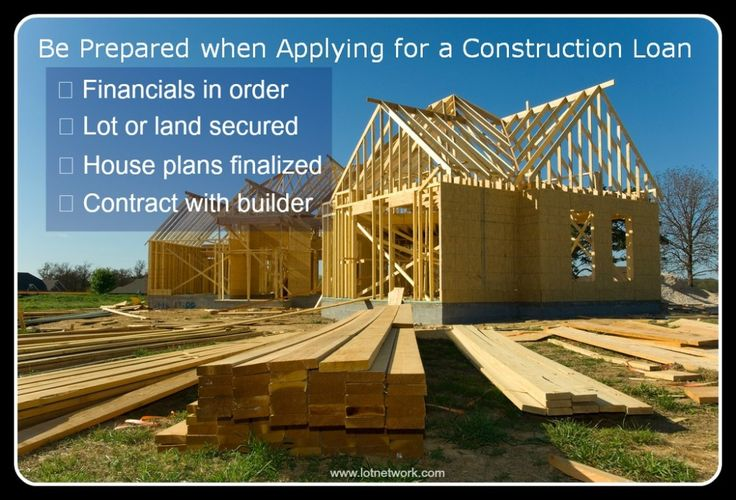 Construction loans. Learn about construction loans and how to be prepared when applying for a construction loan.