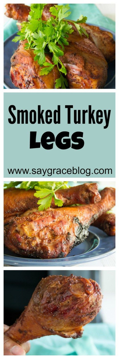 These tender turkey legs are cured overnight and then smoked to juicy perfection!