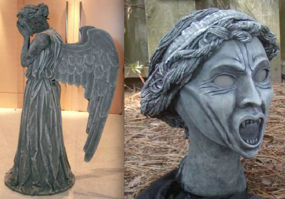 Weeping Angel- What if Ryan was Dr Who and Elise went as this? Hilarious!!