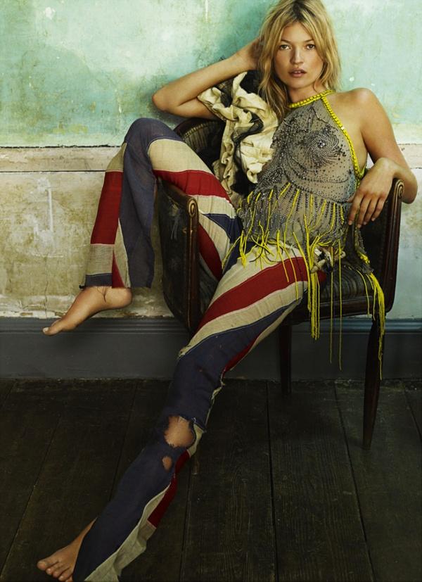 Kate Moss bohemian chill out