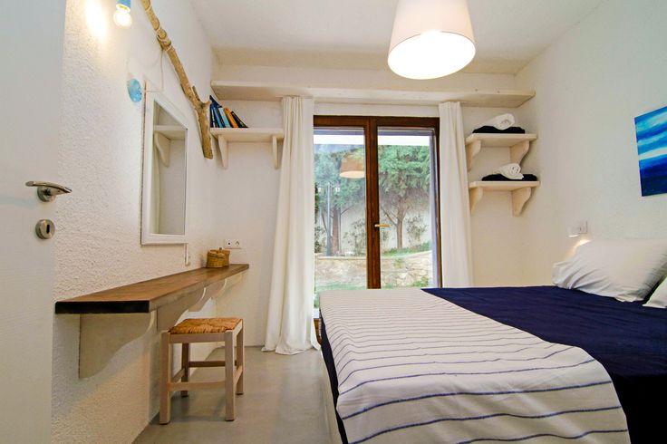 Dreamhouse in Chalkidiki, Greece | Interior-Masterbedroom Ask for availability in summer 2017! #dreamhouse #cottage #beachhouse #housetorent #siviri #chalkidiki #aegean #architecture #greece #summer