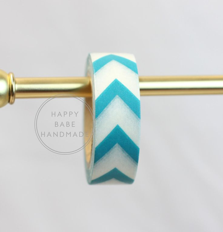 "Teal Blue Arrow Washi Tape, 9/16"", 10 yrs, Chevron Washi Tape, Arrow Washi, Decorative Tape, Peacock Blue, Masking Tape, Chevron Tape by HappyBabeHandmade on Etsy"