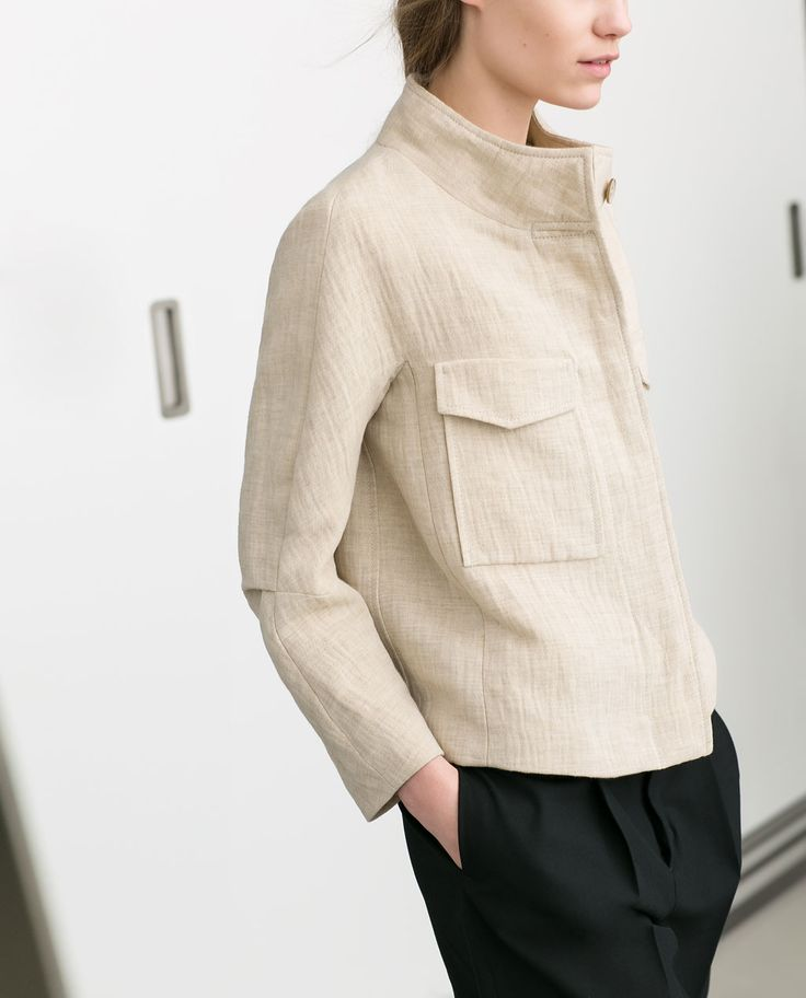 Image 3 of LINEN BLAZER WITH FLAP POCKETS from Zara