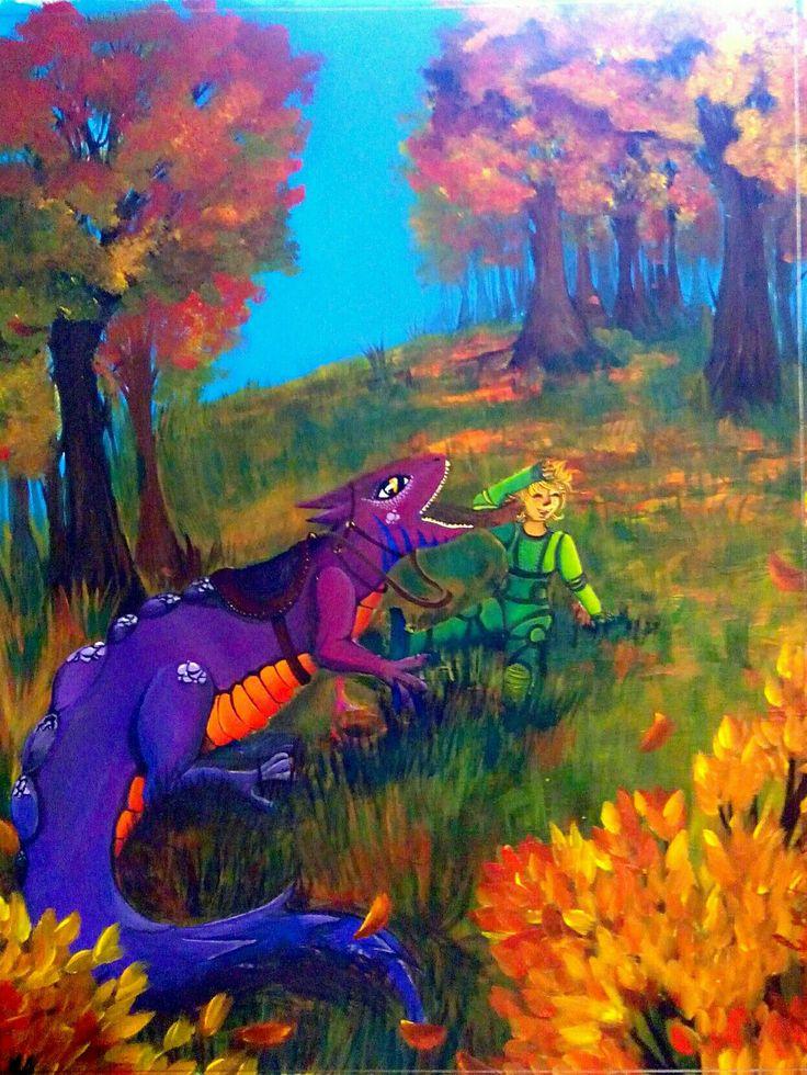 Salamander illustration by Cristina art Sugamele